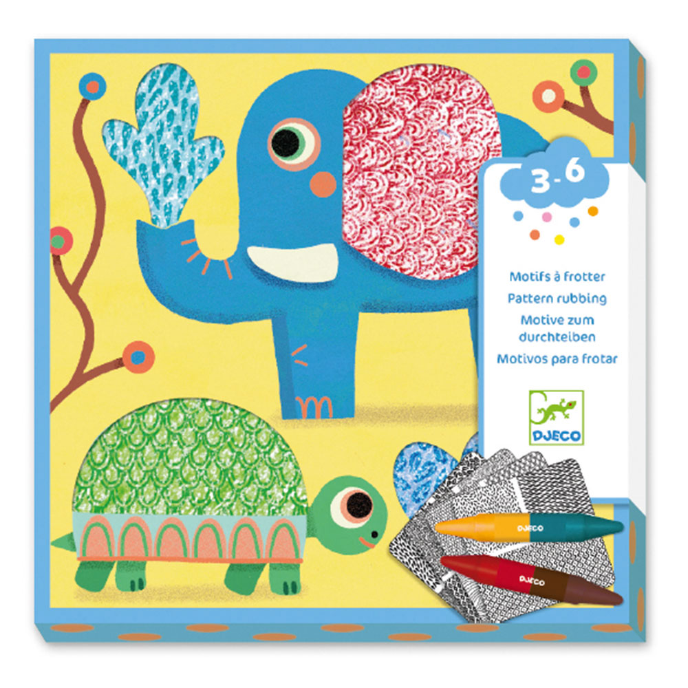 Design 3 to 6 years - Colouring Patterns to rub - Magalis friends brands djeco