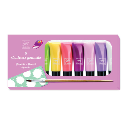 Design The colours - For older children 8 tubes de gouache - Sweet brands djeco