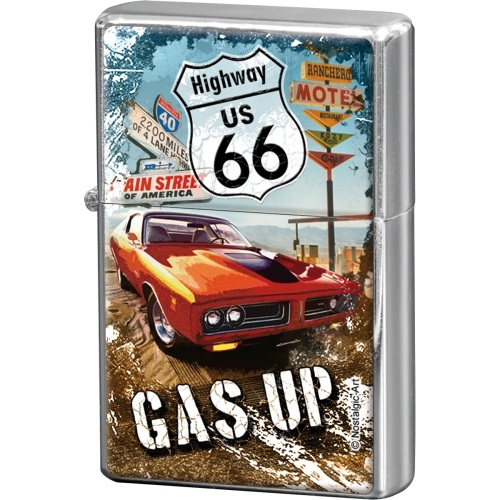 Nostalgic Αναπτήρας USA Route 66 Gas Up brands nostalgic art