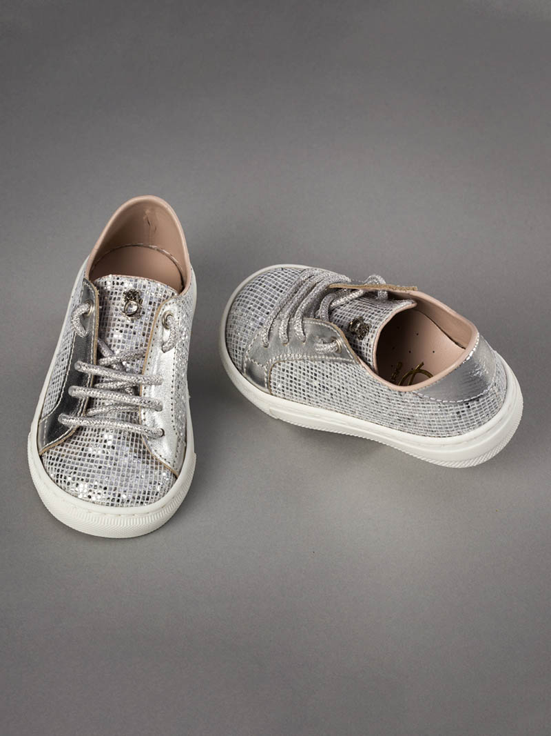 Everkid Βαπτιστικά Sneakers Ασημί 211065A