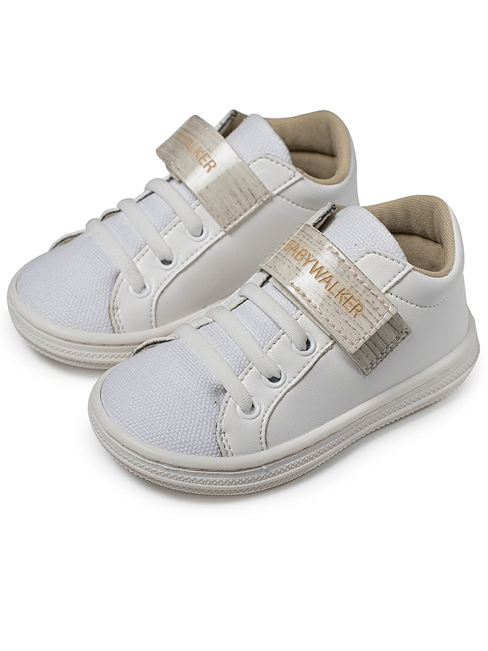 Babywalker Basic Sneakers Λευκό-Εκρού BS3051