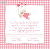 BK6015 Baby Christening Invitation Flying Bear