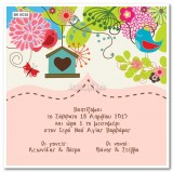 BK6038 Baby Christening Invitation Nest
