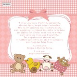 BK6005 Baby Christening Invitation Little Animals