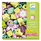 Djeco For older children - Beads and Jewellery Wooden beads, leaves and flowers