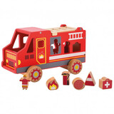 Joueco Fire Truck With Figures 80068