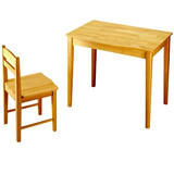 Masiv wood desk and chair 80x56x67