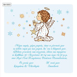 BA5003 Baby Christening Invitation Little Angel With Stars