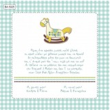 BA5025 Baby Christening Invitation Rocking Horse