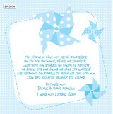BA5034 Baby Christening Invitation Polka Dot Windmill