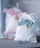 Christening Bonbonniere Pouch with Crown 100613