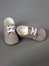 Everkid Christening Baby Shoes Grey 211103B