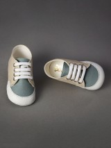 Everkid Christening Baby Shoes Ivory Mint 211105E