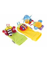 "Σετ Καλτσάκια/Περικάρπια ""Gardenbug Foot Finder and Wrist Rattle Set"" Lamaze  LC27634"