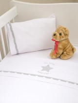 "Crib Sheet Set Baby Oliver ""My Little Superstar"" 301"