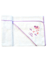"Baby Bath Cape ""Lilac Dream Birds"" Baby Oliver 300"