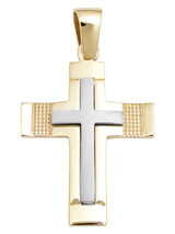 Cross 14Κ Gold and White Gold SIO52011