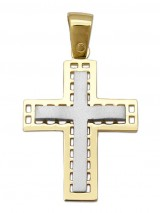 Cross 14Κ Gold and White Gold SIO52512