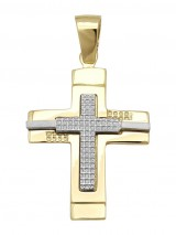Cross 14Κ Gold and White Gold SIO53312