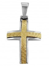 Cross 14Κ Gold and White Gold SIO53411