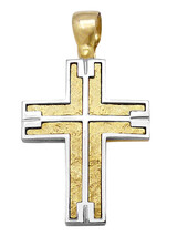 Cross 14Κ Gold and White Gold SIO53412