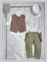 Piccolino Christening Suit Mao Lime AG21S34L