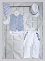 Piccolino Christening Suit Mao White AG21S34WH