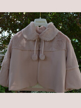 Piccolino Christening Fur Jacket Puce AWFR02