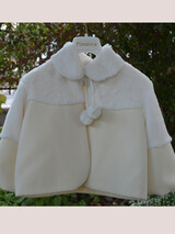 Piccolino Christening Fur Jacket Ivory AWFR01