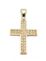 Cross 14K Gold with Zircon  SIO12813