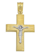 Cross 14K Yellow and White Gold wih Crucifix SIO15007