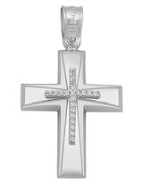 Cross 14K White Gold with Zircon SIO15827