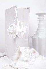Christening Bonbonniere  knitted Shoes 700044