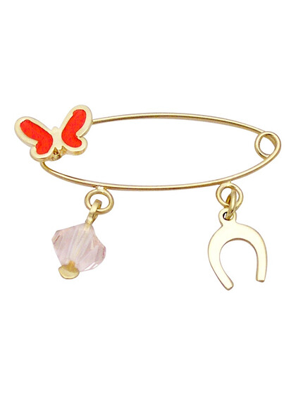 Baby Safety Pin 9K Gold 16283