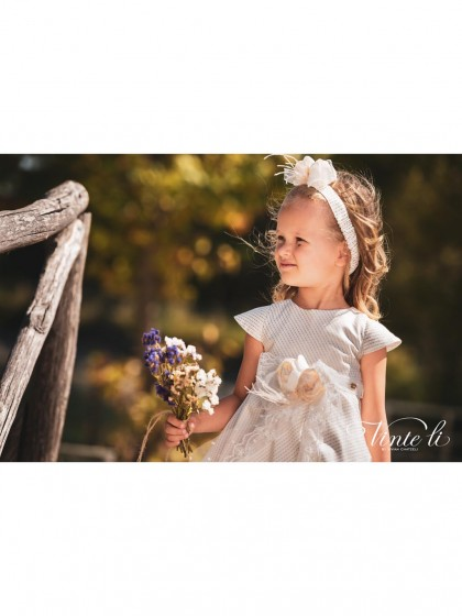 Vinte Li Winter Christening Dress Ivory-Gold 4903