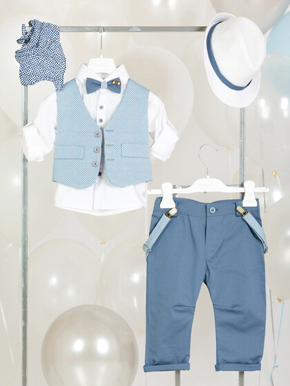 """Christening Package """"Blue Windmill"""" 01722"""